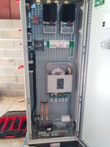 enveloppe industrielle 1600*600*340 complète matériel et protections, sectionneurs et affichages